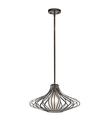 Kichler Lighting Signature 1 Light Pendant in Olde Bronze 43201OZ