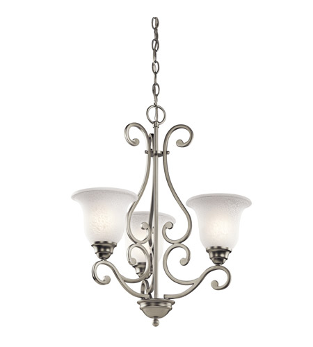 Kichler Lighting Camerena 3 Light Chandelier in Brushed Nickel 43223NI