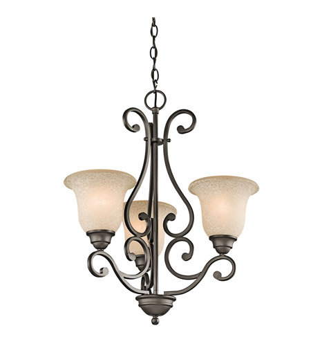 Kichler 43223OZ Camerena 3 Light 20 inch Olde Bronze Chandelier Ceiling Light photo