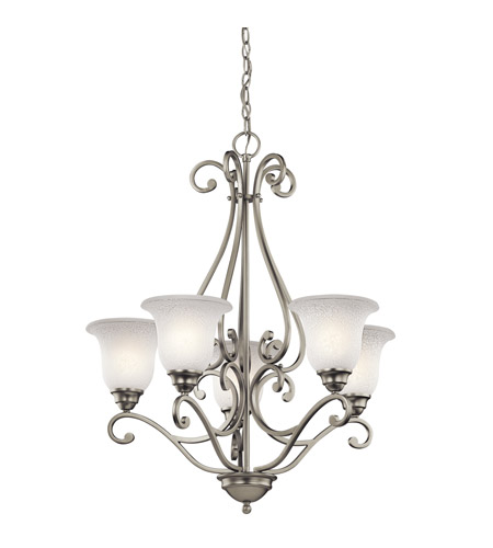 Kichler 43224NI Camerena 5 Light 27 inch Brushed Nickel Chandelier Ceiling Light photo
