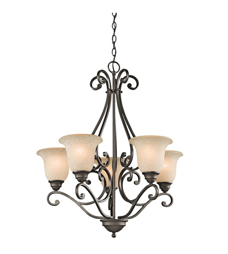 Kichler 43224OZ Camerena 5 Light 27 inch Olde Bronze Chandelier Ceiling Light photo