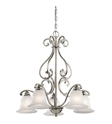 Kichler Lighting Camerena 5 Light Chandelier in Brushed Nickel 43225NI photo