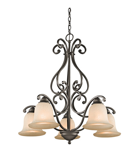 Kichler 43225OZ Camerena 5 Light 27 inch Olde Bronze Chandelier Ceiling Light photo