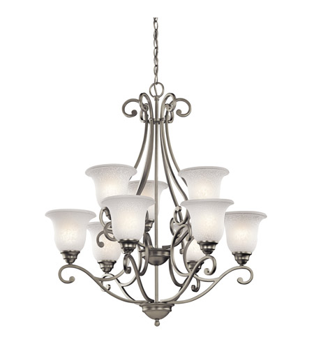 Kichler Lighting Camerena 9 Light Chandelier in Brushed Nickel 43226NI photo