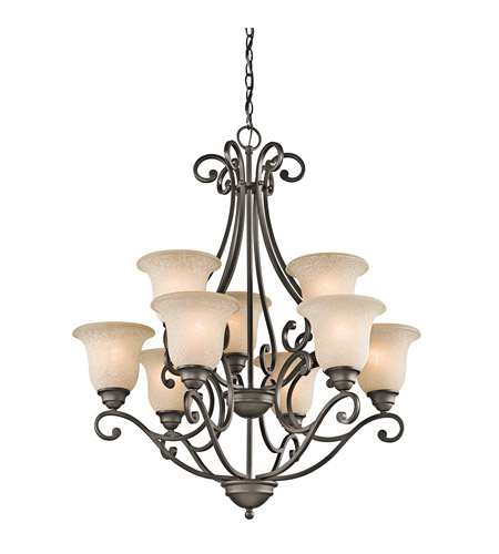 Kichler 43226OZ Camerena 9 Light 30 inch Olde Bronze Chandelier Ceiling Light photo