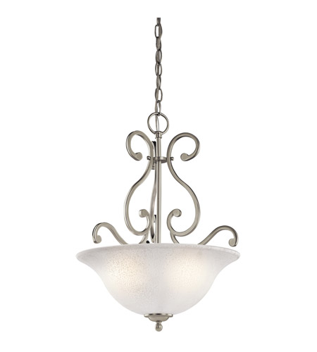 Kichler Lighting Camerena 3 Light Inverted Small Pendant in Brushed Nickel 43227NI photo