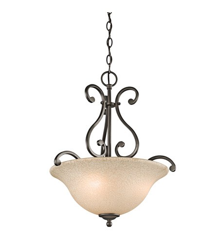 Kichler Lighting Builder Camerena 3 Light Inverted Pendant in Olde Bronze 43227OZ photo