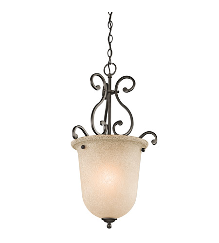 Kichler Lighting Builder Camerena 1 Light Foyer Chain Hung in Olde Bronze 43228OZ photo