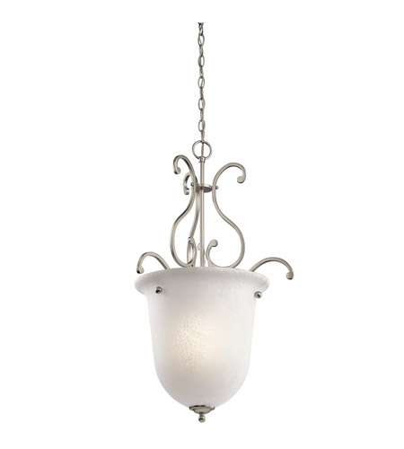 Kichler Lighting Camerena 1 Light Foyer Pendant in Brushed Nickel 43229NI
