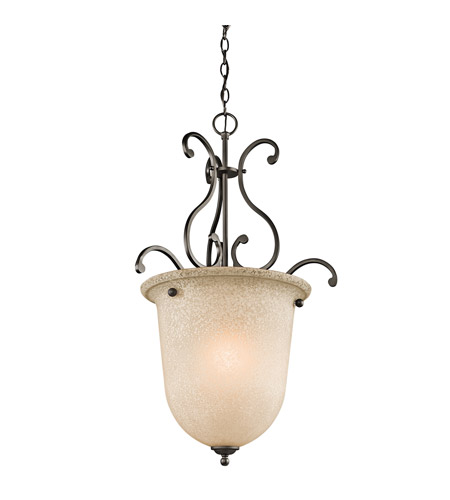 Kichler Lighting Builder Camerena 1 Light Foyer Chain Hung in Olde Bronze 43229OZ photo