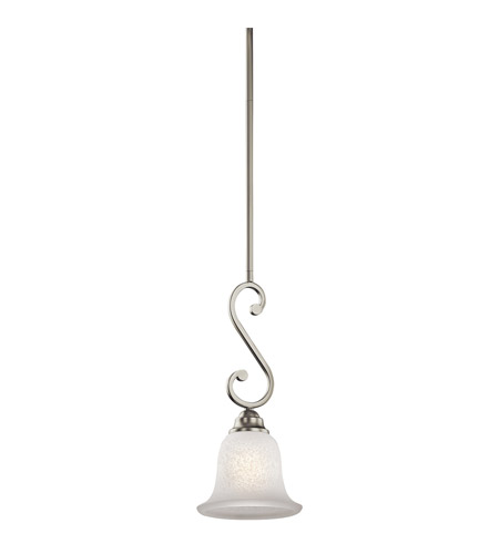 Kichler Lighting Camerena 1 Light Mini Pendant in Brushed Nickel 43230NI