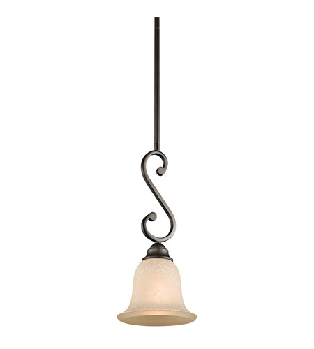 Kichler 43230OZ Camerena 1 Light 7 inch Olde Bronze Mini Pendant Ceiling Light photo