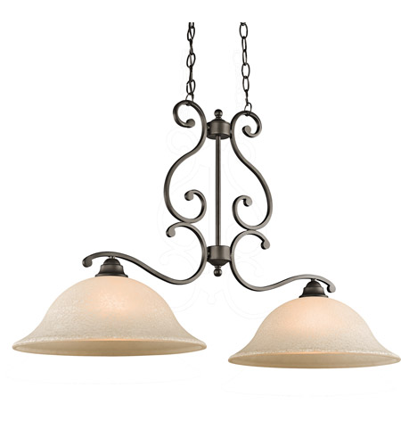 Kichler Lighting Builder Camerena 2 Light Island Pendant in Olde Bronze 43231OZ photo