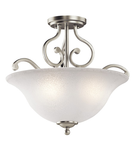 Kichler Lighting Camerena 3 Light Semi-Flush in Brushed Nickel 43232NI