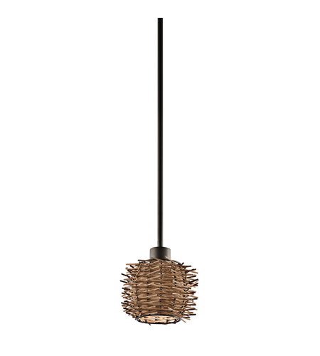 Kichler Lighting Signature 1 Light Mini Pendant in Olde Bronze 43235OZ