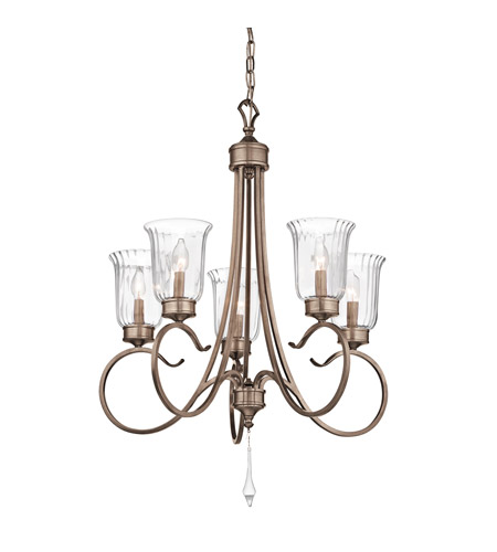 Kichler Lighting Malina 5 Light Chandelier in Brushed Silver and Gold 43238BRSG photo