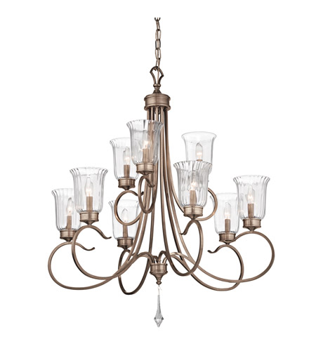 Kichler Lighting Malina 9 Light Chandelier in Brushed Silver and Gold 43240BRSG photo