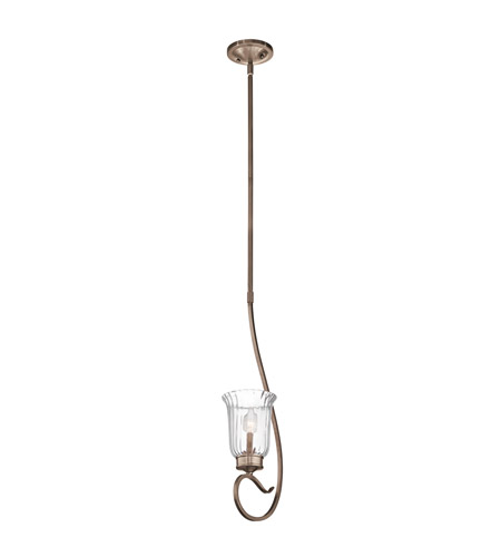 Kichler Lighting Malina 1 Light Mini Pendant in Brushed Silver and Gold 43241BRSG