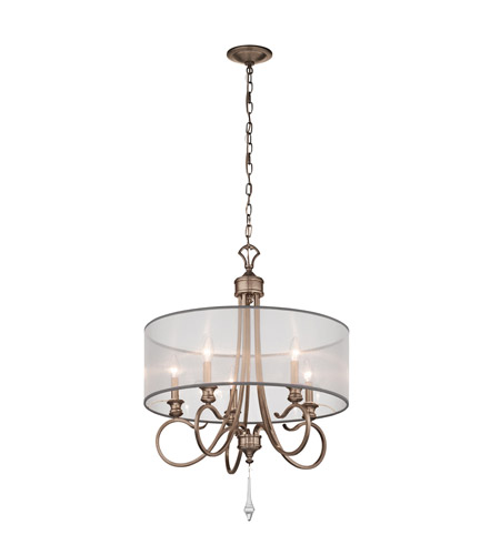Kichler Lighting Malina 5 Light Chandelier in Brushed Silver and Gold 43244BRSG photo