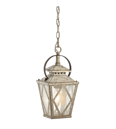 Kichler Lighting Hayman Bay 1 Light Pendant in Distressed Antique White 43246DAW