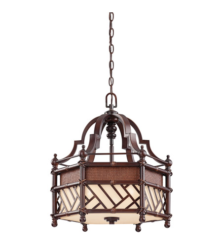 Kichler Lighting Rum Cove 3 Light Pendant in Cayman Bronze 43248CYZ photo
