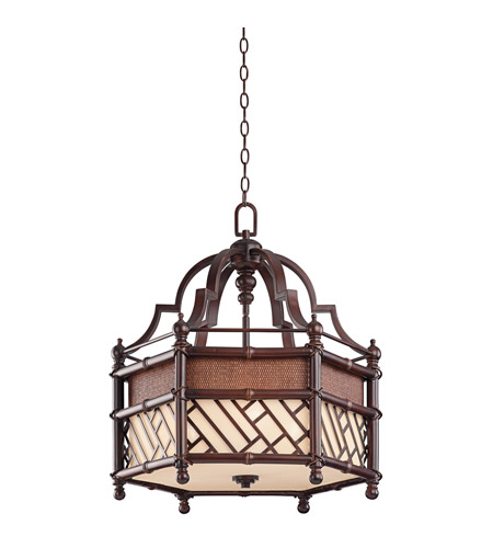 Kichler 43249CYZ Rum Cove 3 Light 25 inch Cayman Bronze Pendant Ceiling Light photo