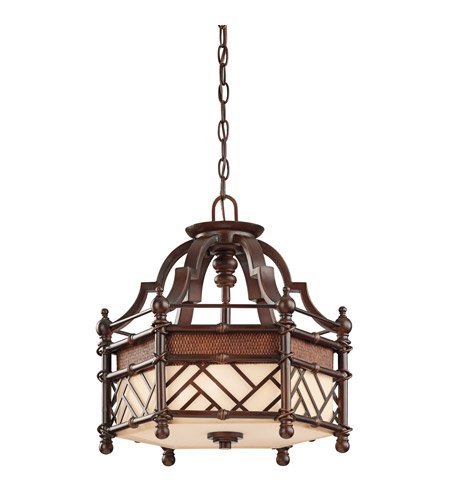 Kichler Lighting Rum Cove 3 Light Convertible Pendant in Cayman Bronze 43250CYZ photo