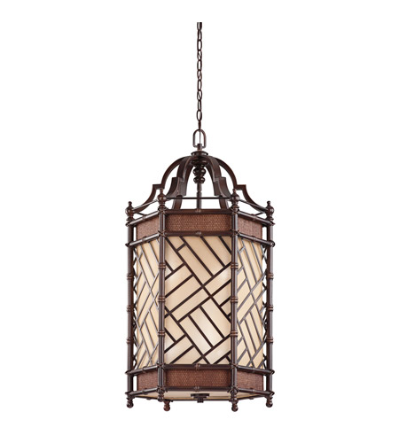 Kichler Lighting Rum Cove 6 Light Foyer Chandelier in Cayman Bronze 43252CYZ photo
