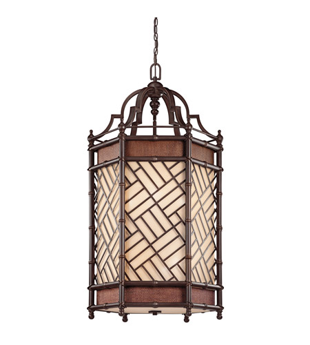 Kichler Lighting Rum Cove 6 Light Chandelier in Cayman Bronze 43253CYZ photo