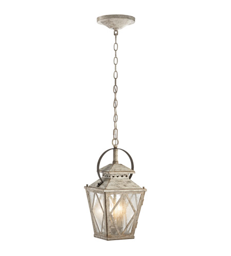 Kichler 43258DAW Hayman Bay 2 Light 9 inch Distressed Antique White Pendant Ceiling Light photo thumbnail