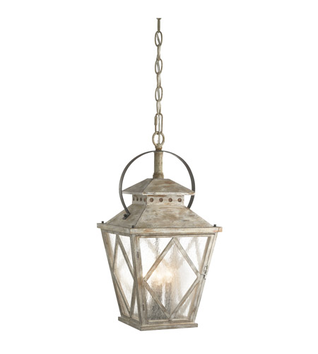 Kichler Hayman Bay 4 Light Pendant in Distressed Antique White 43259DAW photo