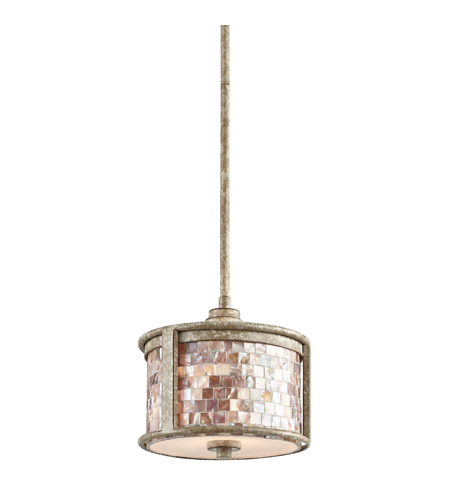 Kichler Lighting Hayman Bay 1 Light Mini Pendant in Distressed Antique White 43260DAW