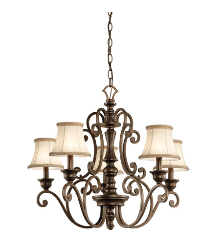 Kichler Lighting Mithras 5 Light Chandelier in Terrene Bronze (Shades Sold Separately) 43279TRZ