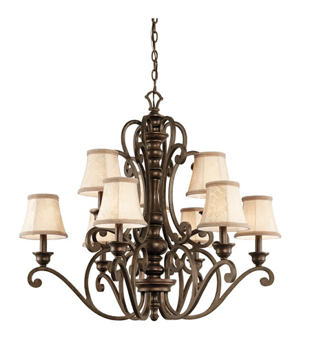 Kichler Lighting Mithras 9 Light Chandelier in Terrene Bronze 43280TRZ photo