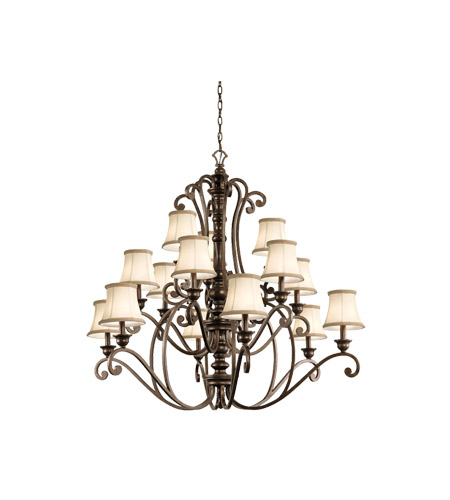 Kichler 43281TRZ Mithras 15 Light 42 inch Terrene Bronze Chandelier Ceiling Light photo