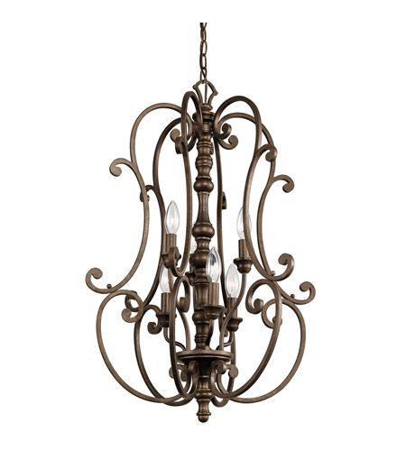 Kichler Lighting Mithras 6 Light Foyer Chandelier in Terrene Bronze 43282TRZ photo