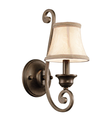Kichler Lighting Mithras 1 Light Wall Bracket (Shade Sold Separately) in Terrene Bronze 43284TRZ photo