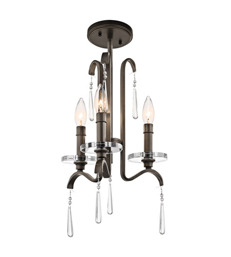 Kichler Lighting Tara 3 Light Mini Chandelier in Olde Bronze 43286OZ