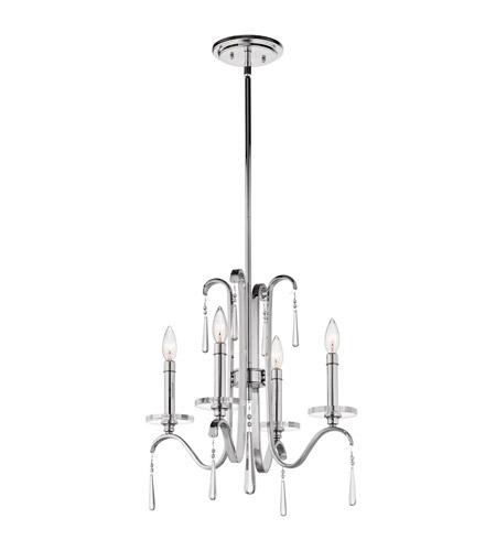 Kichler 43287CH Tara 4 Light 18 inch Chrome Mini Chandelier Ceiling Light photo