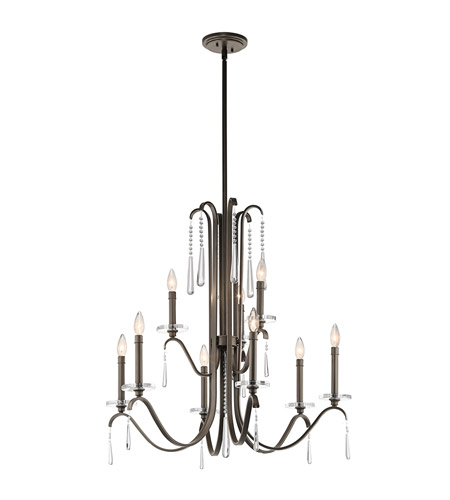 Kichler Lighting Tara 9 Light Chandelier in Olde Bronze 43289OZ