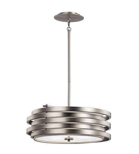 Kichler 43301NI Roswell 3 Light 19 inch Brushed Nickel Pendant Ceiling Light photo