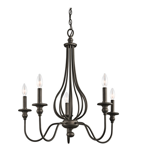 Kichler 43330OZ Kensington 5 Light 25 inch Olde Bronze Chandelier Ceiling Light photo