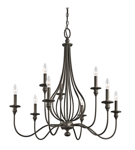 Kichler Lighting Kensington 9 Light Chandelier in Olde Bronze 43331OZ photo