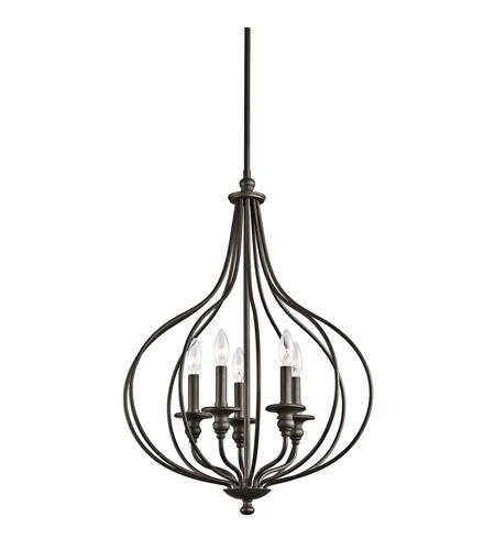 Kichler Lighting Kensington 5 Light Foyer Pendant in Olde Bronze 43335OZ photo