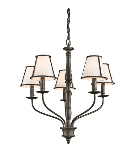 Kichler 43339OZ Donington 5 Light 26 inch Olde Bronze Chandelier Ceiling Light photo