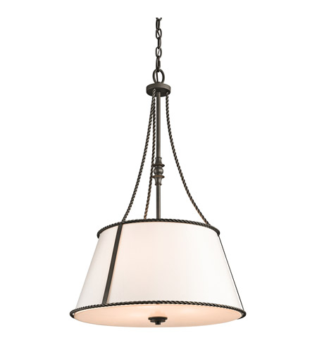 Kichler Lighting Donington 3 Light Pendant in Olde Bronze 43341OZ