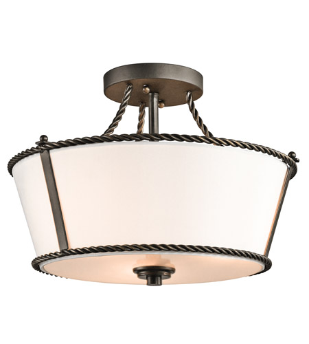Kichler Lighting Donington 3 Light Semi-Flush in Olde Bronze 43342OZ