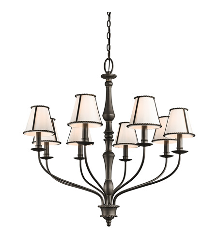 Kichler 43344OZ Donington 8 Light 34 inch Olde Bronze Chandelier Ceiling Light photo