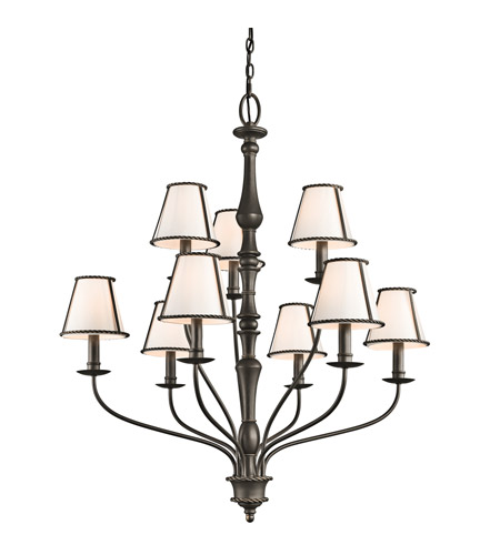 Kichler 43345OZ Donington 9 Light 34 inch Olde Bronze Chandelier Ceiling Light photo