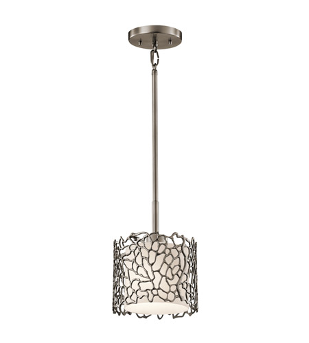 Kichler 43349CLP Silver Coral 1 Light 7 inch Classic Pewter Mini Pendant Ceiling Light photo